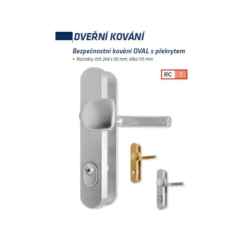 Bezpečnostní kování Ovál klika - madlo F4